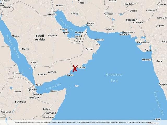 Mekunu har dragit in över Oman