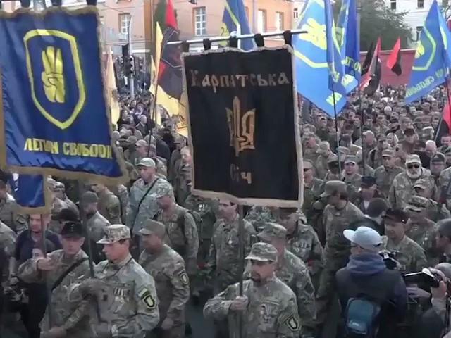 Hundratals miljoner kronor från Sverige till Ukraina där man marscherar för att hedra nazister