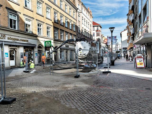 Stora grävarbeten blockerar Malmös gågata – resten av året