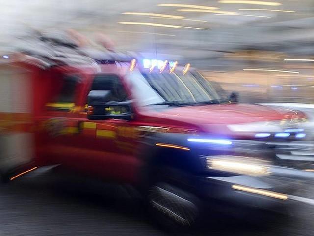 Kraftig brand på skola på Öland