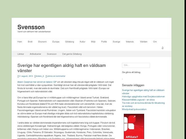 Sverige har egentligen aldrig haft en våldsam vänster