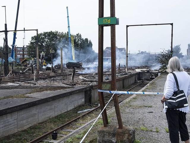 Tågtrafik efter brand i gång på onsdag