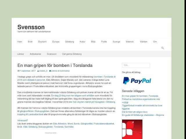 En man gripen för bomben i Torslanda