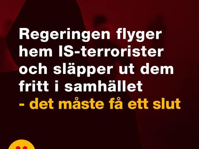 Inte rimligt att bistå IS-terrorister att ta sig tillbaka till Sverige