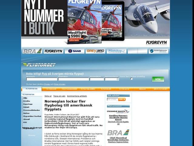 Norwegian lockar fler flygbolag till amerikansk flygplats