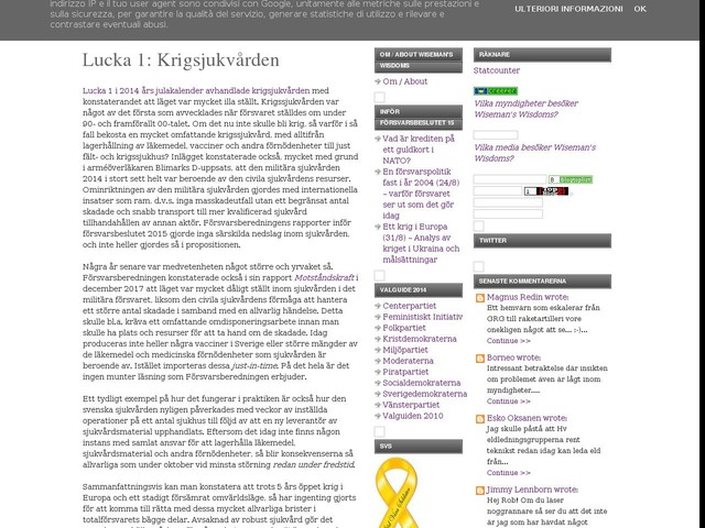 Lucka 1: Krigsjukvården
