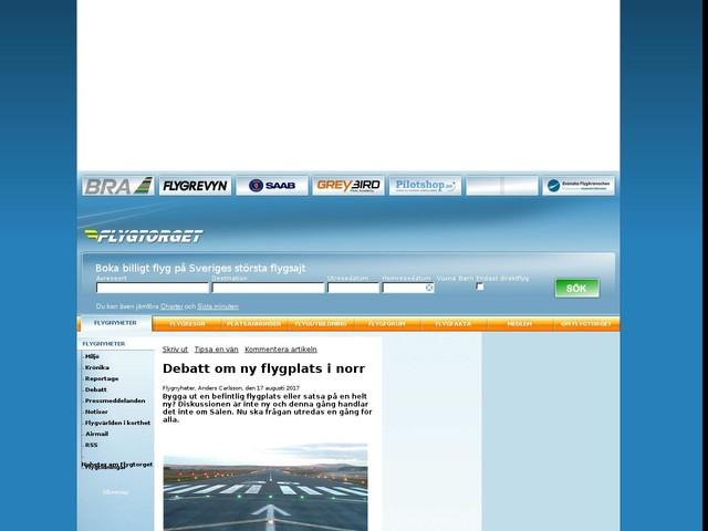 Debatt om ny flygplats i norr