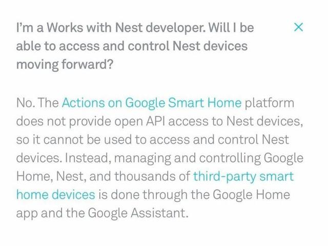 Google blockar andra från Nest
