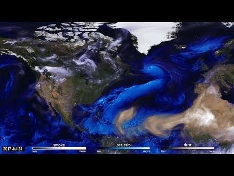 Se hur atmosfären rör sig över jordens yta