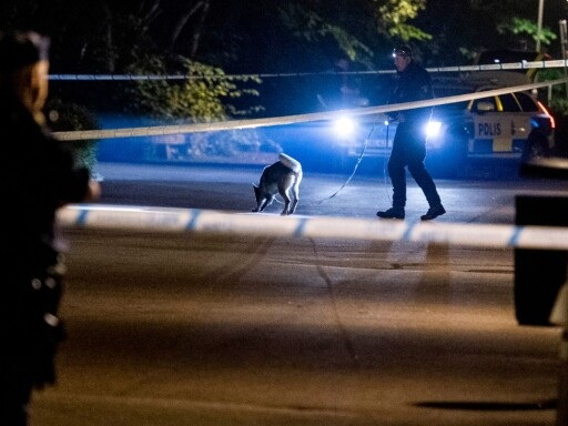 Just nu: Stort polispådrag efter skottlossning – helikopter i luften