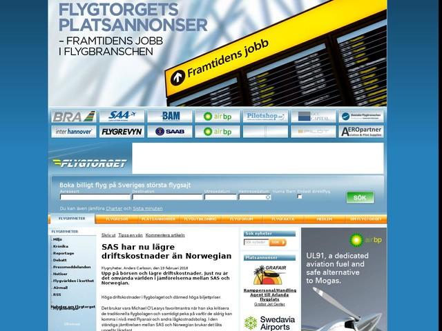 SAS har nu lägre driftskostnader än Norwegian