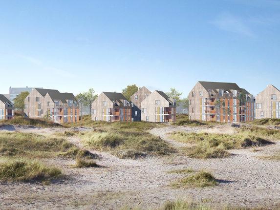 Nytt bostadsområde norr om Kronborg – 156 bostäder vid stranden