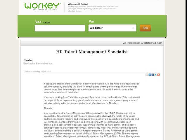 HR Talent Management Specialist