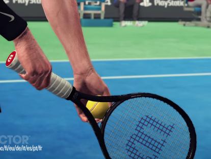Federer med och levererar smashar i Tennis World Tour