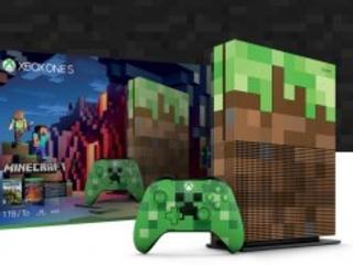 Såhär ser nya Xbox One S med Minecraft-tema ut