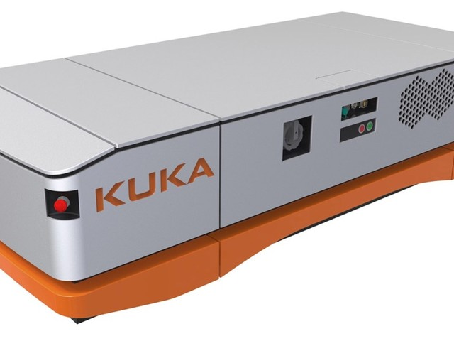 Mobila roboten KUKA KMP 1500 kan transportera 1,5 ton