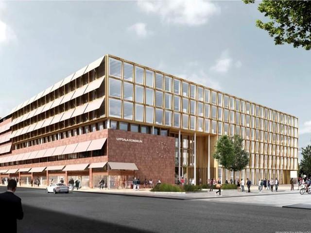 Tidig plan för konsten i nya Stadshuset