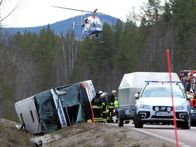 Många bälteslösa vid bussolyckan i Härjedalen