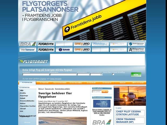 Sverige behöver fler flygplatser