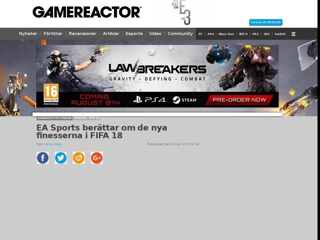 EA Sports berättar om de nya finesserna i FIFA 18