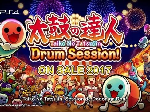 Vilt trummande i Playstation 4-exklusiva Taiko No Tatsujin