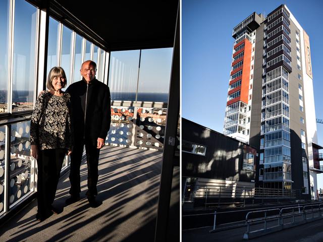 Nya Limhamn tar form: De bor granne med Öresundsbron