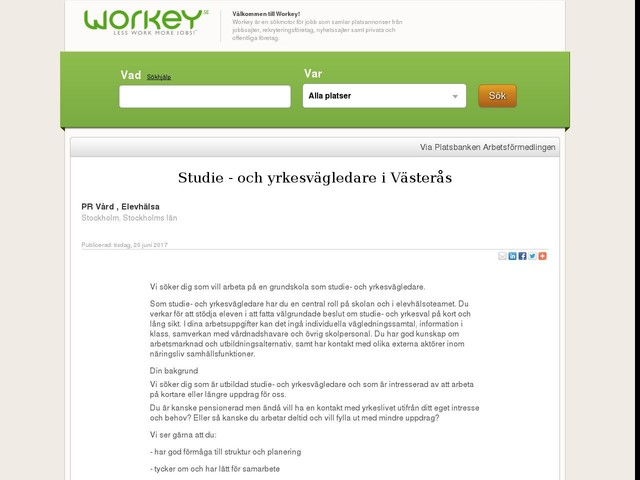 Studie - och yrkesvägledare i Västerås