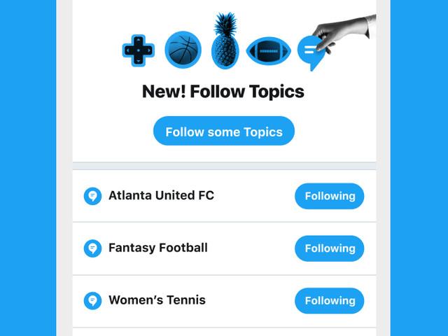 Snart går det att följa ämnen på Twitter – inte bara konton