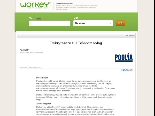 Rekryterare till Telecombolag