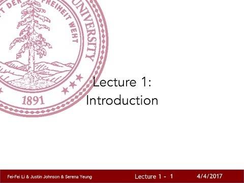 Släpp allt, Stanfords Convolutional Neural Networks for Visual Recognition nu på YouTube!