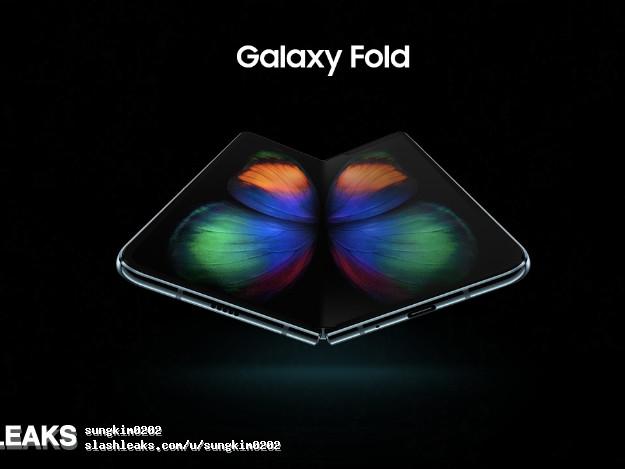 Samsungs telefon GalaxyFold med hopvikbar skärm hittar ut på webben