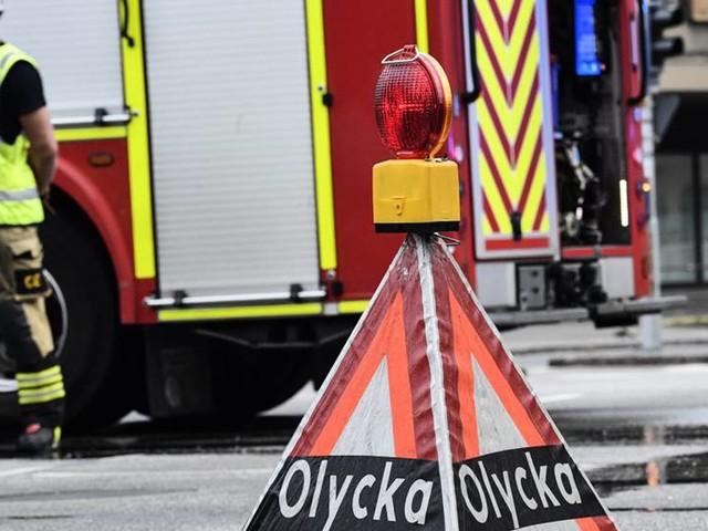Stopp på E4 i Småland efter stor olycka