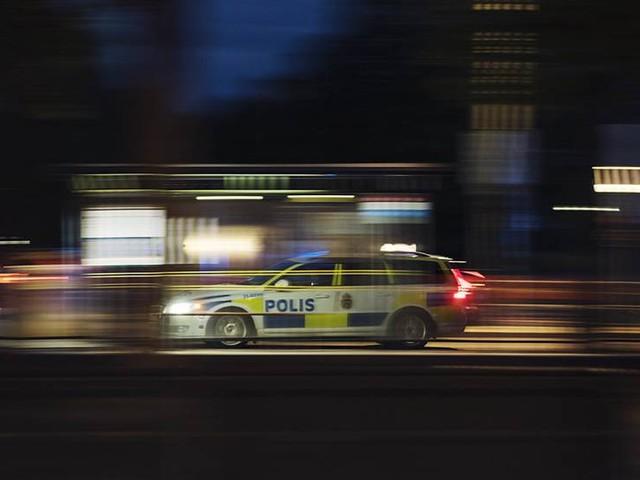 Skott mot fasad på hus i Malmö