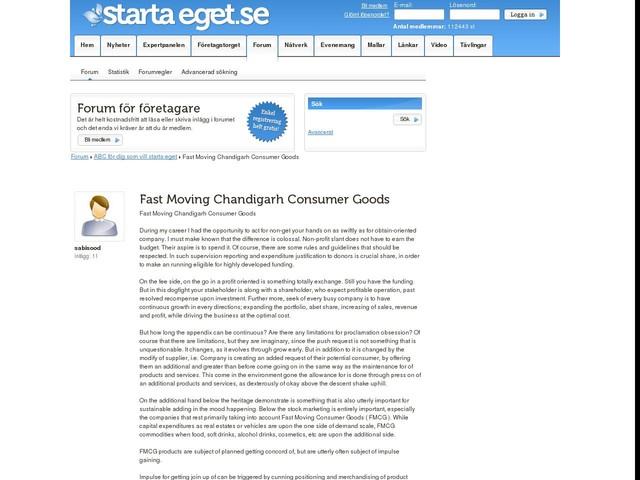 Fast Moving Chandigarh Consumer Goods