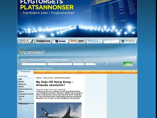 Ny linje till Hong Kong – Arlanda uteslutet?