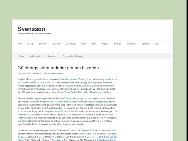 Göteborgs stora rederier genom historien