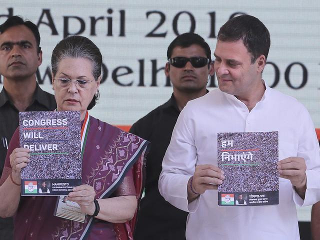 Sonia Gandhi leder åter Kongresspartiet