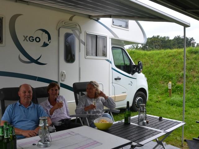 11 husbilar på camping i Tyskland