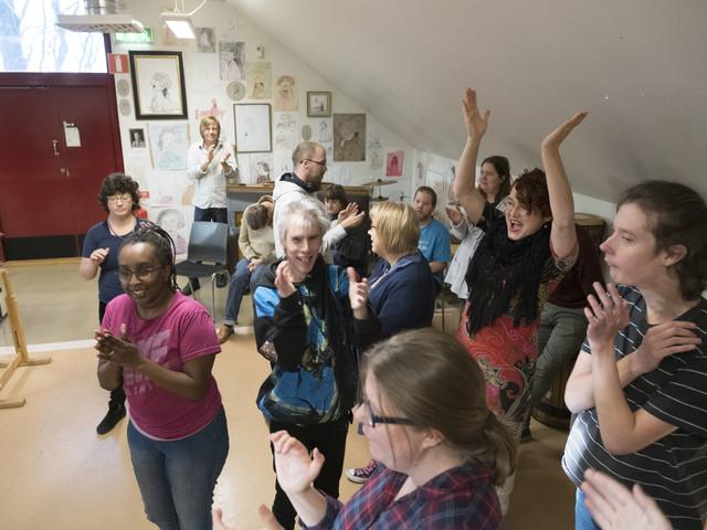 Kulturcentrum Skåne firade kulturpriset med jubel, marimbaspel och dans