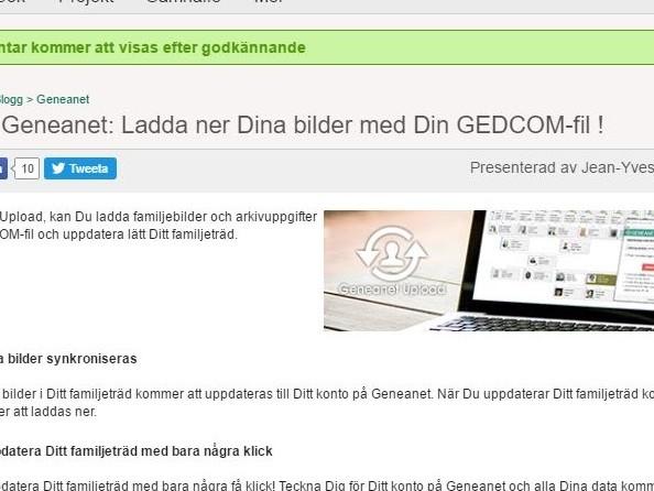 Geneanet, Gedcom och nya funktioner för bilder