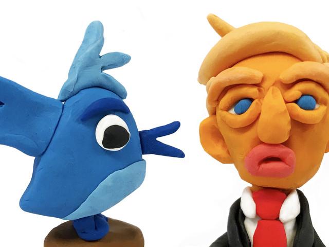 Tolv månader med twittraren Donald Trump