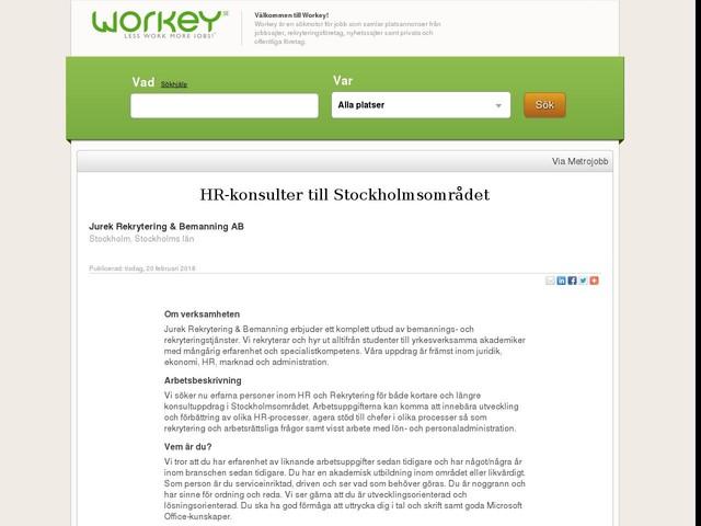 HR-konsulter till Stockholmsområdet