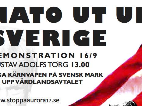 Demonstrera mot Aurora 2017