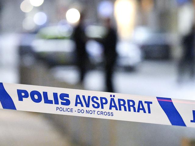 Polisinsats på gymnasium i Härnösand