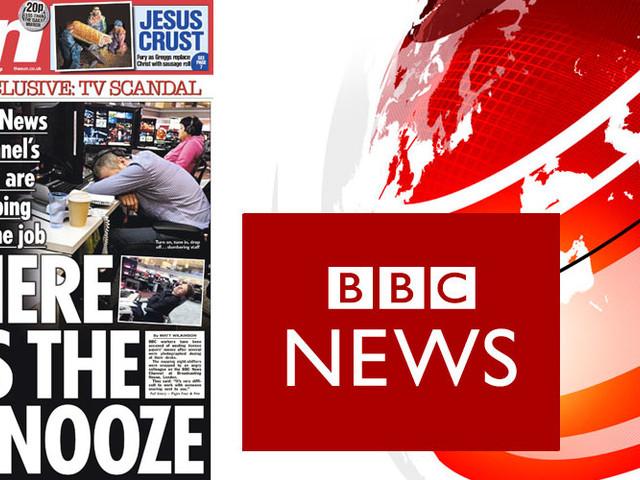 The Sun publicerar smygtagna bilder på sovande BBC-journalister