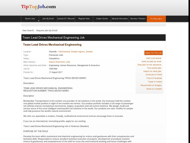 Team Lead Drives Mechanical Engineering
