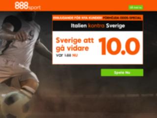 Löjligt bra erbjudande inför kvällens match: Sverige till 10 gånger pengarna