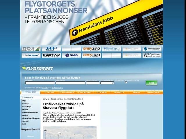 Trafikverket tvivlar på Skavsta flygplats