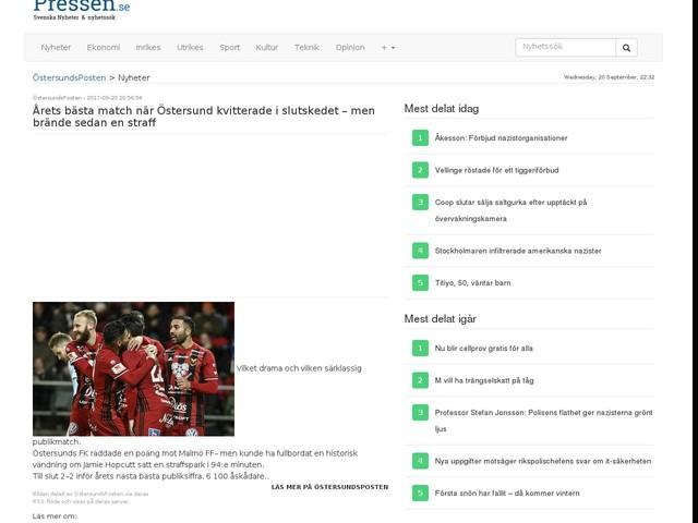 Årets bästa match när Östersund kvitterade i slutskedet – men brände sedan en straff