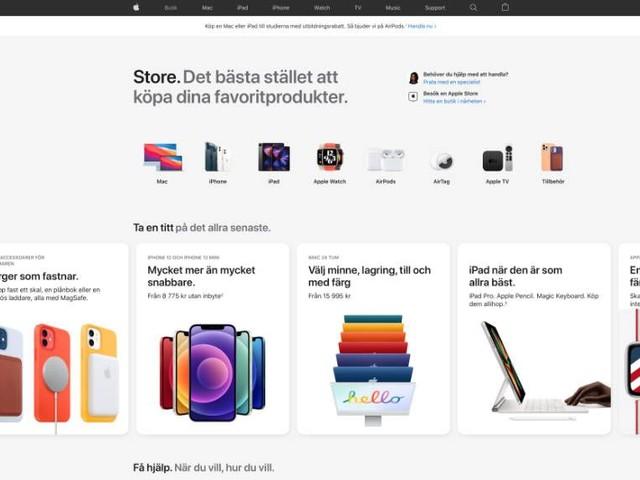 Apples onlinebutik redesignad – får egen flik igen